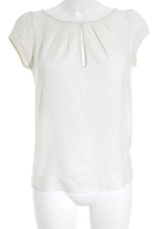 Zara Basic T-Shirt wollweiß-schwarz schlichter Stil