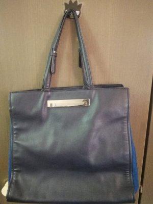 Zara Basic Shopper donkerblauw