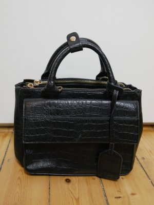 Zara Basic Bowling Bag black polyurethane