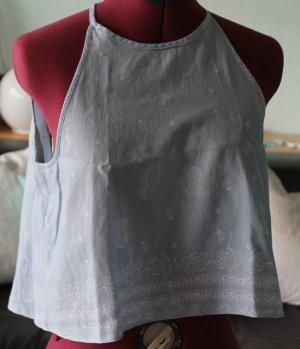 Zara Basic Top Gr.S Leinen-Baumwolle