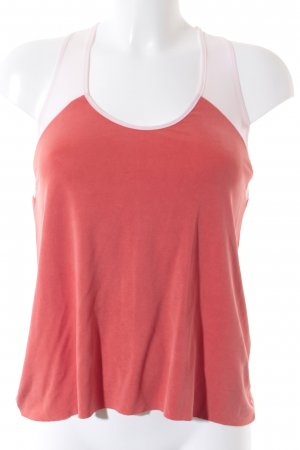 Zara Basic Top lachs-wollweiß College-Look