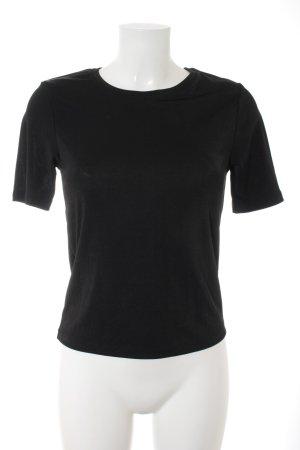 Zara Basic Top schwarz Street-Fashion-Look