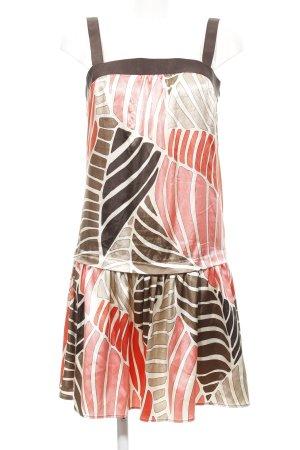 Zara Basic Robe à bretelles motif abstrait style décontracté