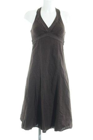 Zara Basic Trägerkleid braun Casual-Look