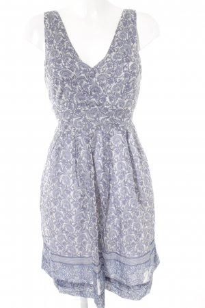 Zara Basic Trägerkleid himmelblau-weiß abstraktes Muster College-Look