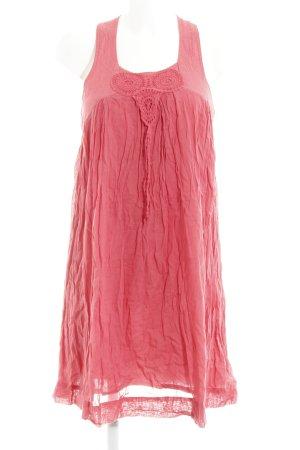 Zara Basic Trägerkleid neonrot Boho-Look