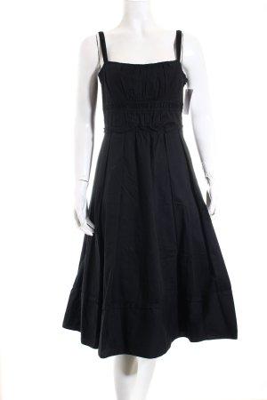 Zara Basic Vestido tipo overol negro look casual