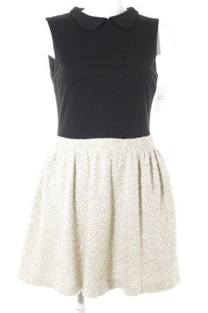 Zara Basic Trägerkleid schwarz-hellbeige Elegant
