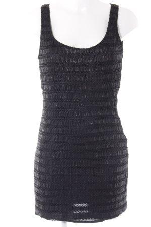 Zara Basic Trägerkleid schwarz Metallic-Optik