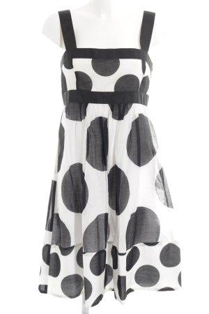 Zara Basic Trägerkleid schwarz-wollweiß Punktemuster Street-Fashion-Look