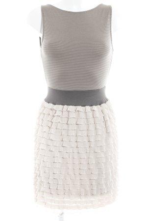 Zara Basic Trägerkleid Streifenmuster Nude-Look