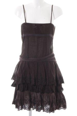 Zara Basic Trägerkleid taupe florales Muster Casual-Look