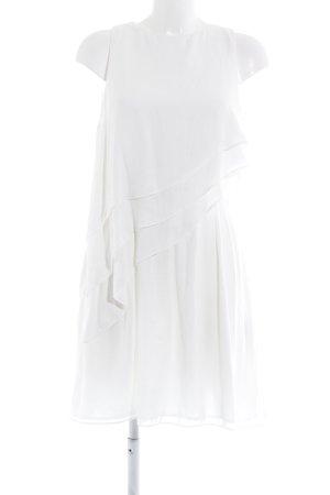 Zara Basic Trägerkleid weiß klassischer Stil
