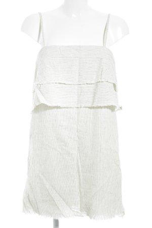 Zara Basic Trägerkleid weiß-schwarz Nadelstreifen Casual-Look