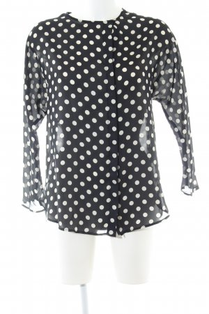 Zara Basic Transparent Blouse black-white spot pattern casual look
