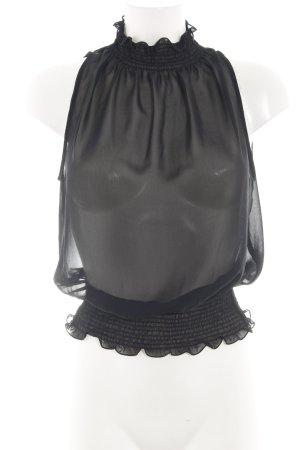 Zara Basic Transparent Blouse black elegant