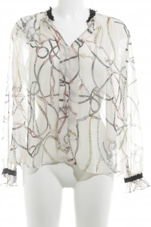 Zara Basic Transparenz-Bluse abstraktes Muster Casual-Look