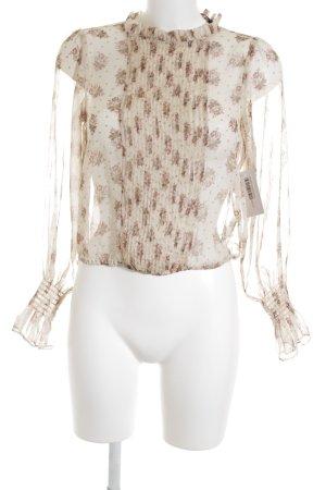 Zara Basic Transparenz-Bluse Blumenmuster Romantik-Look