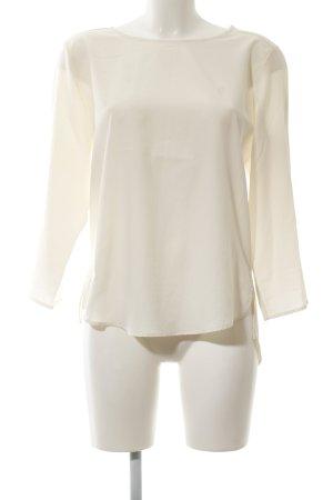 Zara Basic Transparenz-Bluse creme Business-Look