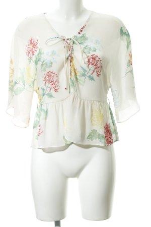 Zara Basic Transparenz-Bluse florales Muster Romantik-Look