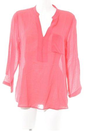 Zara Basic Transparenz-Bluse hellrot klassischer Stil