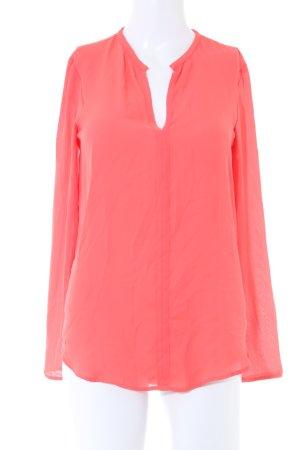 Zara Basic Transparenz-Bluse lachs Elegant