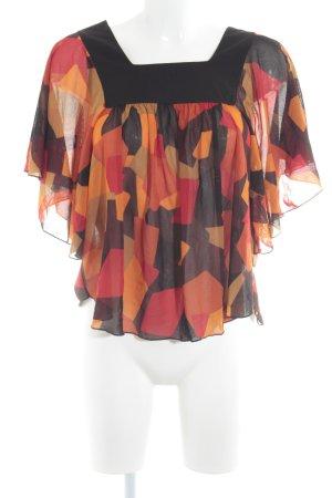 Zara Basic Transparenz-Bluse mehrfarbig 70ies-Stil