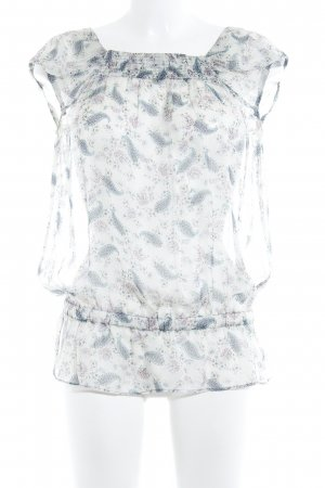 Zara Basic Transparenz-Bluse Paisleymuster Casual-Look