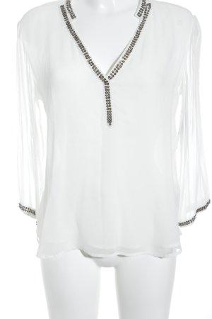 Zara Basic Transparenz-Bluse silberfarben minimalistischer Stil