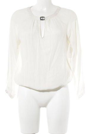 Zara Basic Transparenz-Bluse weiß Business-Look