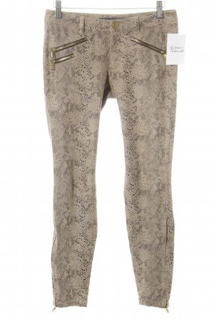Zara Basic Treggings Animalmuster Reptil-Optik