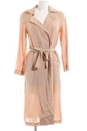 Zara Basic Trenchcoat nude zakelijke stijl