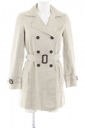 Zara Basic Trenchcoat creme Casual-Look