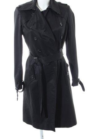 Zara Basic Trench Coat black business style