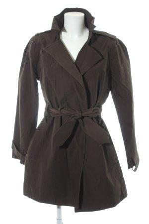 Zara Basic Trenchcoat braun Casual-Look