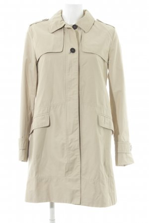 Zara Basic Trenchcoat creme Casual-Look