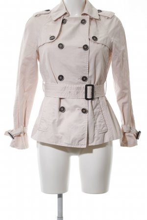 Zara Basic Trenchcoat creme-pink Casual-Look