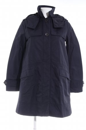 Zara Basic Trenchcoat dunkelblau Casual-Look