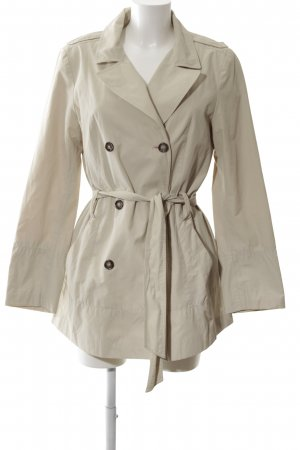 Zara Basic Trenchcoat wollweiß Casual-Look