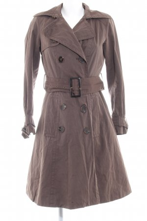 Zara Basic Trenchcoat graubraun Casual-Look