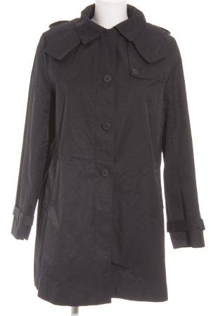 Zara Basic Cappotto corto blu scuro Tessuto misto