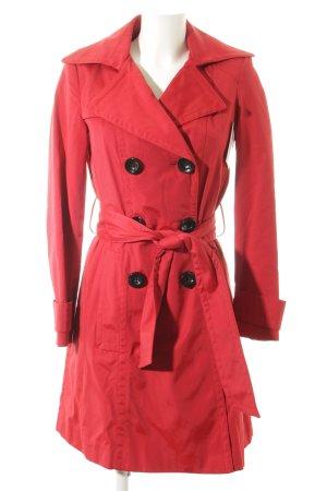Zara Basic Trenchcoat rot-schwarz klassischer Stil