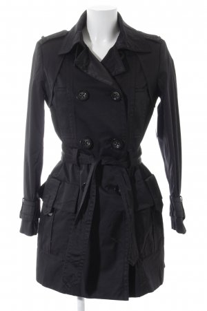 Zara Basic Trenchcoat schwarz Business-Look