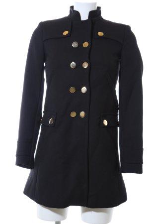 Zara Basic Trenchcoat schwarz Casual-Look