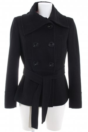 Zara Basic Trenchcoat schwarz Casual-Look