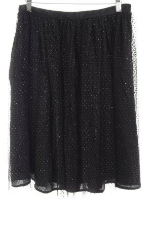 Zara Basic Tüllrock schwarz Glanz-Optik