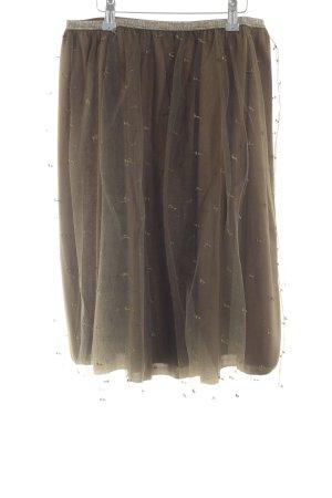 Zara Basic Tulle Skirt bronze-colored wet-look