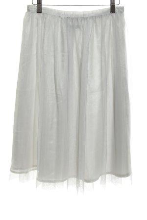 Zara Basic Tulle Skirt light grey elegant