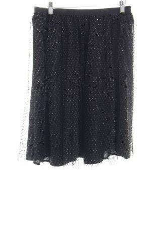 Zara Basic Tulle Skirt black spot pattern elegant