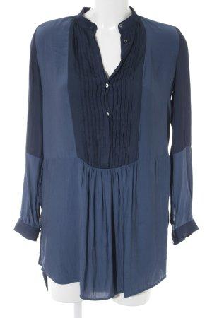 Zara Basic Tunikabluse dunkelblau-blau schlichter Stil